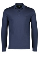 Polo lange mouw Hugo Boss Big & Tall donkerblauw