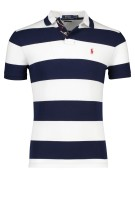 Polo Ralph Lauren Polo Shirt Donkerblauw Wit Gestreept Slim fit