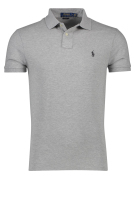 Polo Ralph Lauren Polo Shirt Grijs Effen Slim fit
