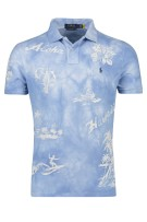 Polo Ralph Lauren Polo Shirt Lichtblauw Print Normale fit