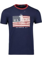 Polo Ralph Lauren T-shirt Donkerblauw Print Slim fit