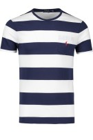 Polo Ralph Lauren T-shirt Donkerblauw Wit Gestreept Normale fit