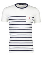 Polo Ralph Lauren T-shirt Donkerblauw Wit Gestreept Slim fit