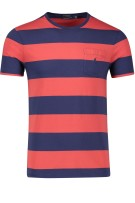 Polo Ralph Lauren T-shirt Rood Donkerblauw Gestreept Normale fit