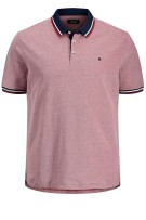 Poloshirt Jack & Jones Plus Size rood