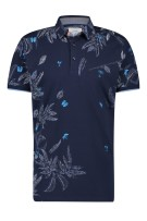 Poloshirt navy geprint A Fish Named Fred