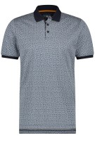 Poloshirt state of Art navy print