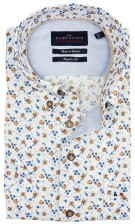 Portofino blauw casual overhemd button down