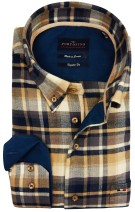 Portofino overhemd geruit button down