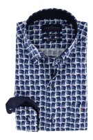 Portofino overhemd Regular Fit navy motief