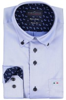 Portofino shirt Regular Fit borstzak lichtblauw