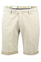 Portofino Short Beige Effen Slim fit