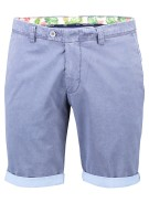 Portofino Short Blauw Effen Slim fit