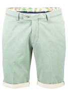 Portofino Short Groen Effen Slim fit