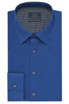 Profuomo 2.0 shirt royal blue stretch