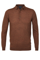 Profuomo lange mouwen polo donker rood