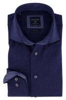 Profuomo Mouwlengte 7 Overhemd Donkerblauw Effen Slim fit