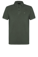 Profuomo Polo Shirt Groen Effen Slim fit