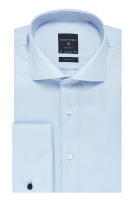 Profuomo shirt dubbele manchet Slim Fit blue