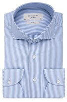 Profuomo shirt slim fit two ply streepdessin