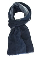 Profuomo sjaal donkerblauw wol mix