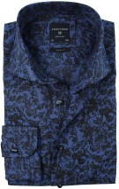 Profuomo slim fit overhemd Blue Flowerprint