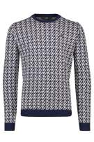 Pullover donkerblauw crème print Vanguard