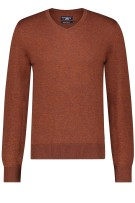 Pullover State of Art brique met v-hals