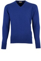Pullover William Lockie kobalt lamswol