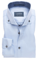 Pure cotton overhemd Ledub  tailored fit blauw