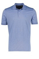Ragman Polo Shirt Blauw Gestreept Normale fit