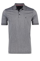 Ragman Polo Shirt Donkerblauw Print Normale fit