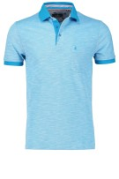 Ragman Polo Shirt Lichtblauw Turquoise Effen Normale fit