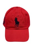 Ralph Lauren Big Pony cap rood