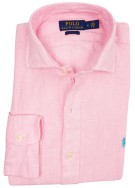 Ralph Lauren Big & Tall hemd roze linnen