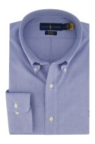 Ralph Lauren Custom Fit overhemd blauw