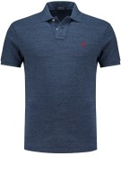 Ralph Lauren custom slim fit polo blauw melange