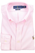 Ralph Lauren knitted oxford hemd roze
