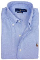 Ralph Lauren knitted oxford shirt blauw
