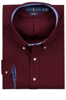 Ralph Lauren overhemd bordeaux Big & Tall