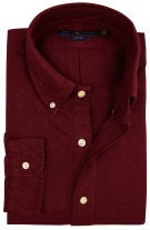 Ralph Lauren overhemd bordeaux slim fit