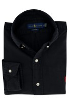 Ralph Lauren overhemd button-down zwart Slim Fit