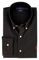 Ralph Lauren overhemd button down zwart stretch