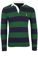 Ralph Lauren polo custom slim fit navy groen stree