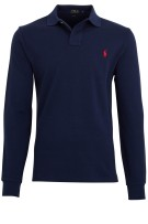 Ralph Lauren polo lange mouw navy custom fit