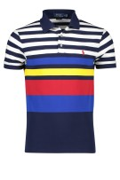 Ralph Lauren slim fit polo katoen navy gestreept