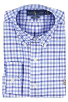 Ralph Lauren Slim Fit shirt blauw geruit