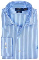 Ralph Lauren slim fit shirt blauw gestreept