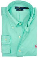 Ralph Lauren slim fit shirt groen feather weight t