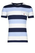 Ralph lauren slim fit t-shirt lichtblauw navy